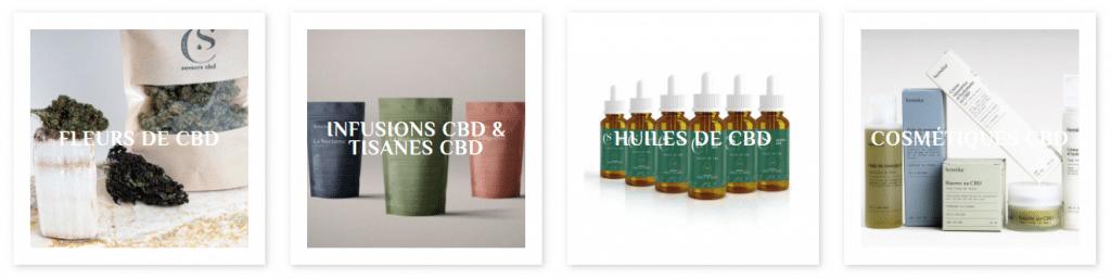 Le catalogue de produits à base de chanvre CBD de SaveursCBD