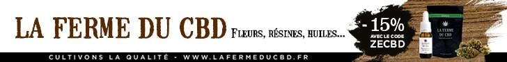 15% discount on LA FERME DU CBD with the promo code ZECBD!